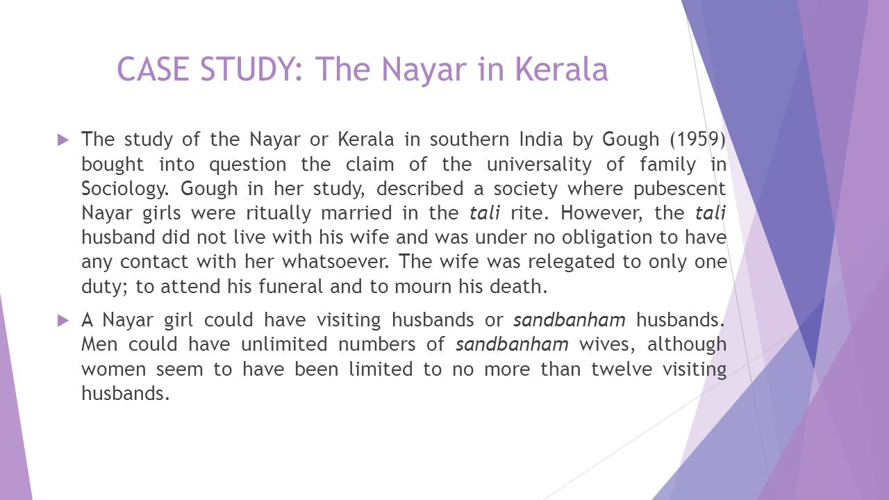 Cultural research of nayar of india