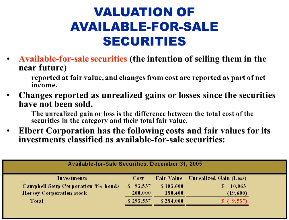 Fair value accounting its impacts on