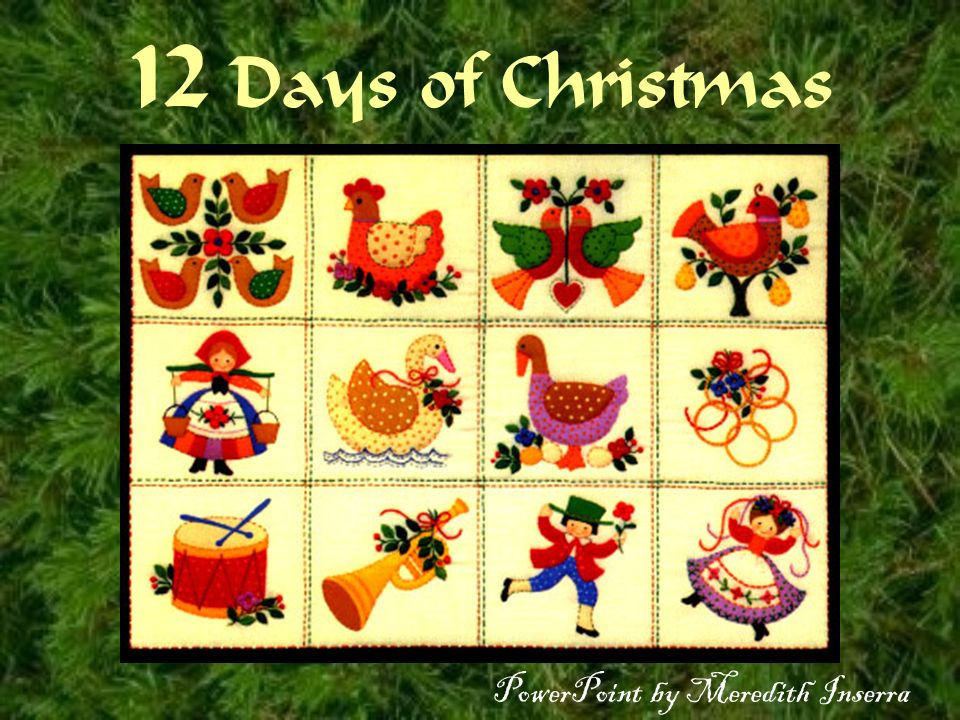 12 days of christmas powerpoint