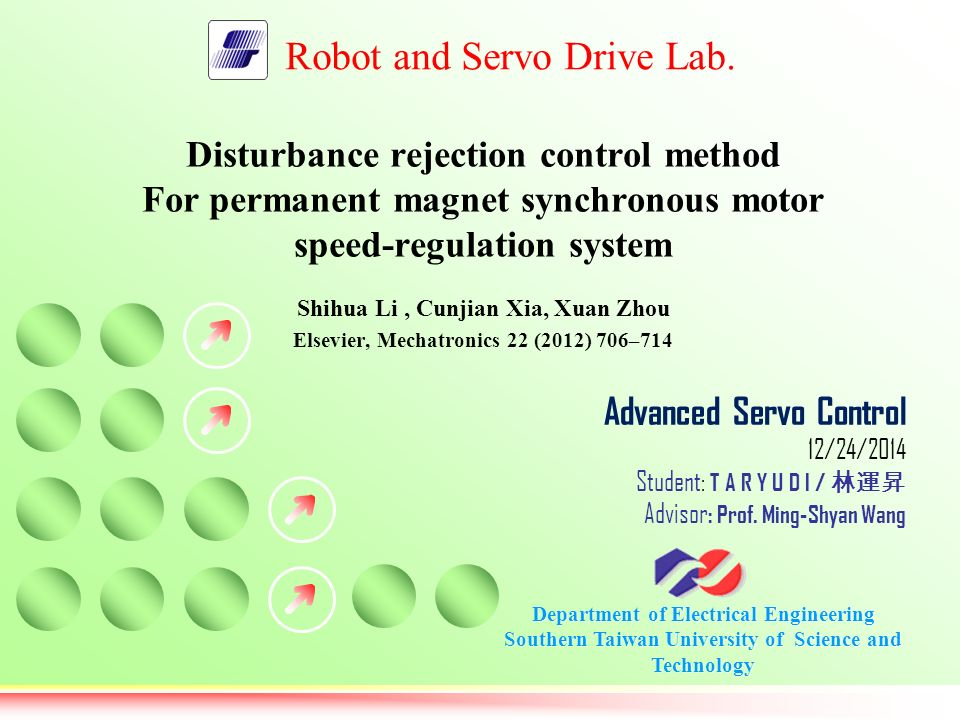 Disturbance rejection control method ppt video online for Synchronous motor speed control method