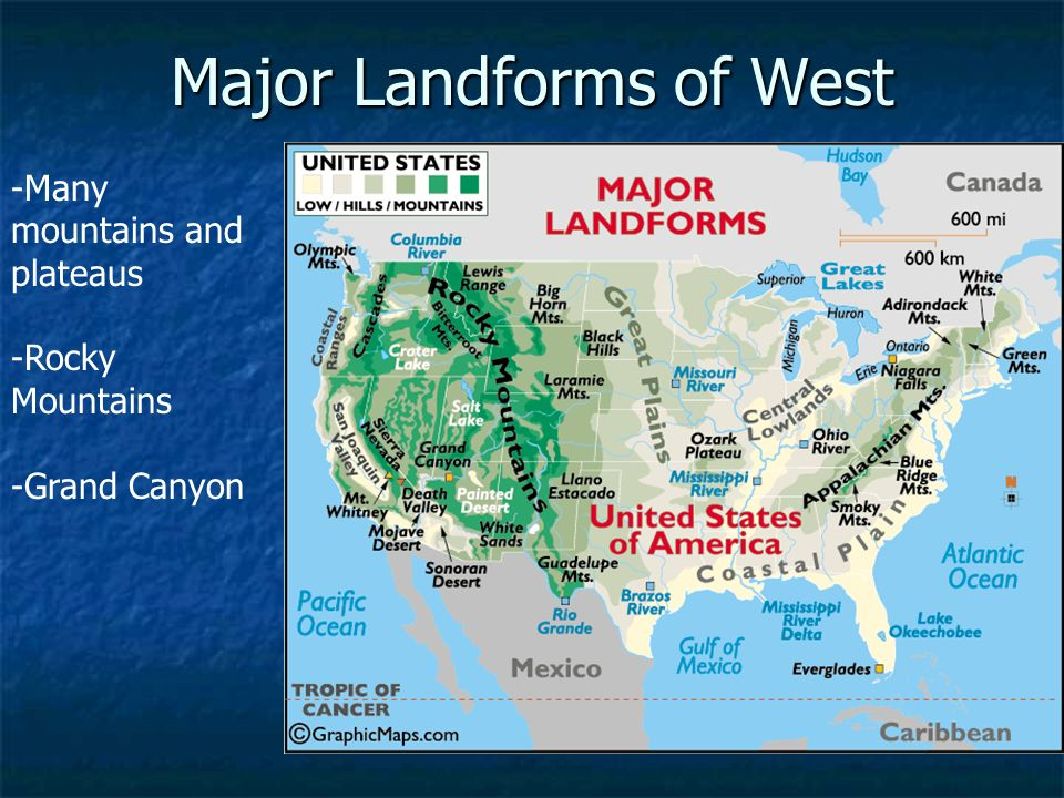 Landforms Of North America Mountain Ranges Major