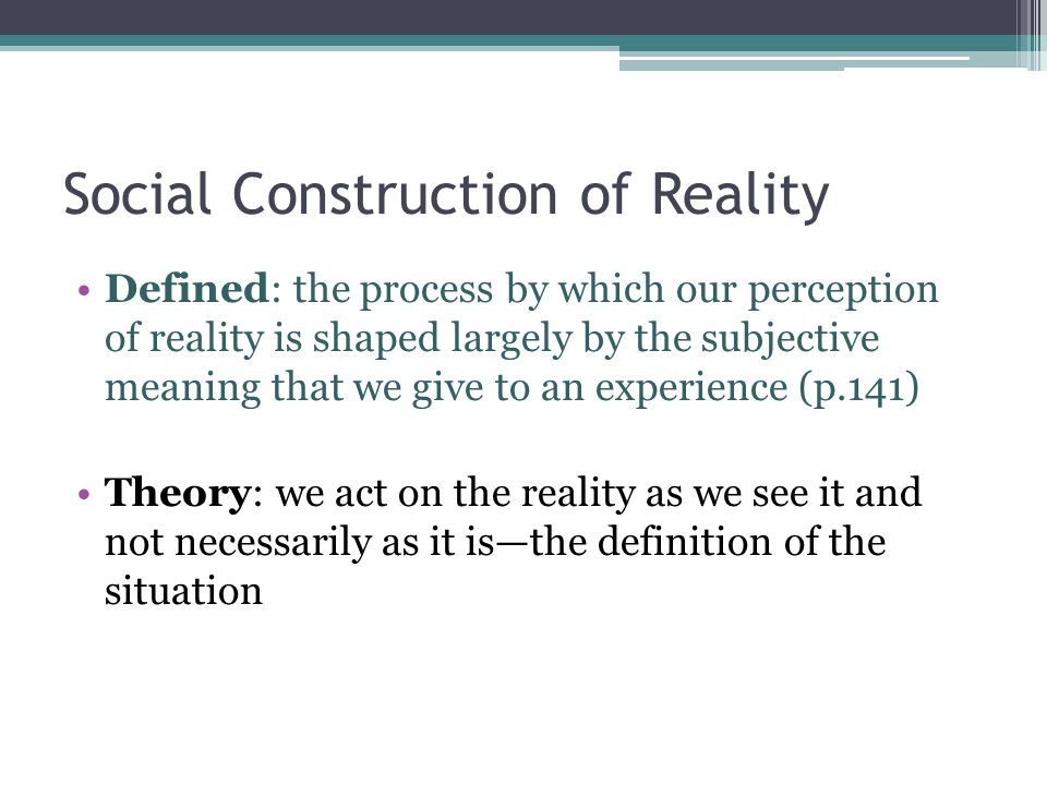 The microlevel perspective ppt video online download for Definition construction