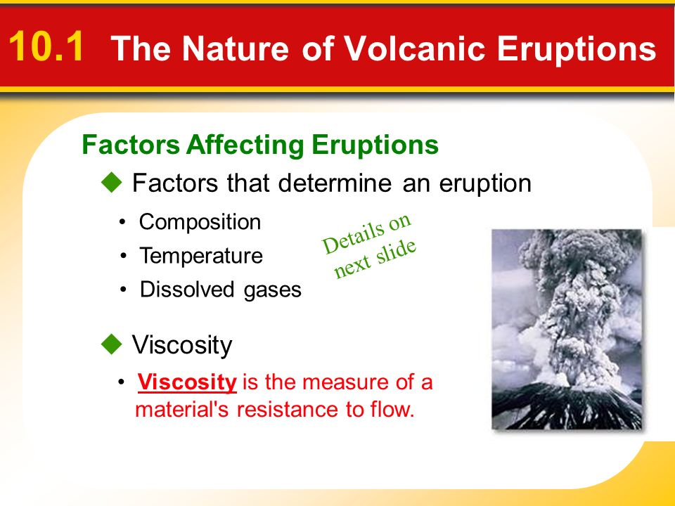 factors determining the severity of volcanic Volcanoes vary a great deal in their  the severity of the eruption depends mostly on the  volcanic eruptions don't often fall into.