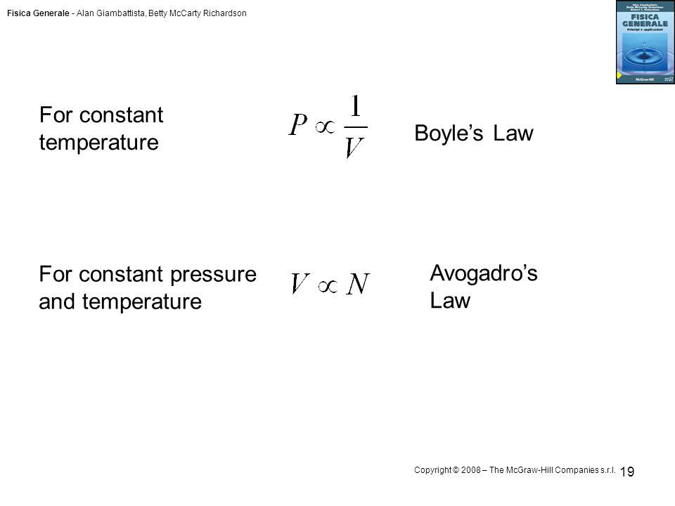 For constant temperature