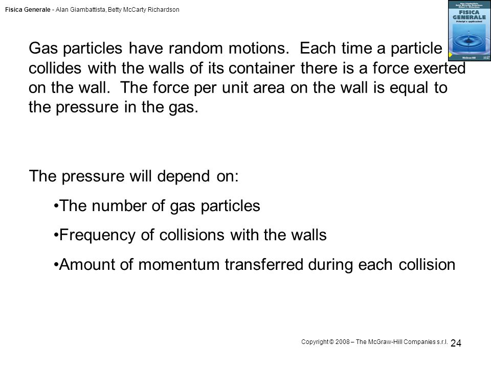 Gas particles have random motions