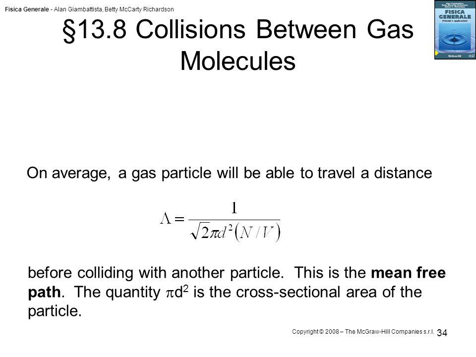 §13.8 Collisions Between Gas Molecules