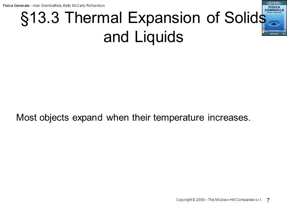 §13.3 Thermal Expansion of Solids and Liquids