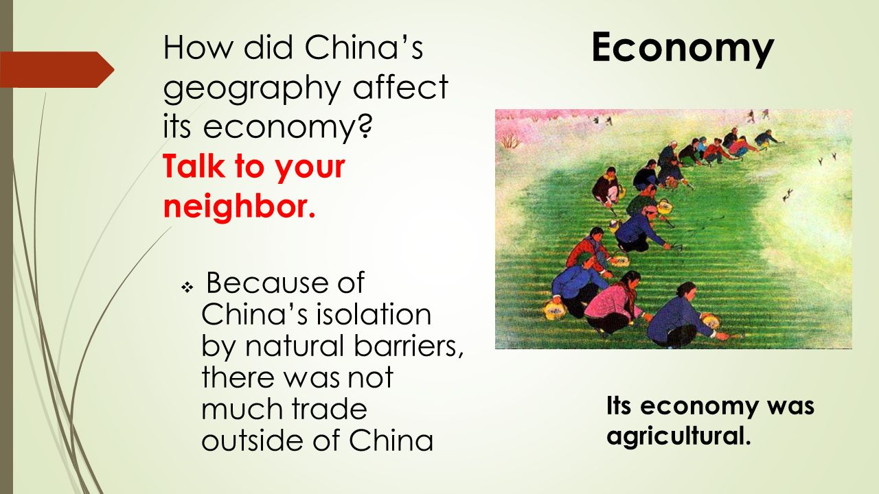 how did geography affect anicent china s culture Get an answer for 'geography of chinahow did geography and climate influence the early development of chinese civilization were their influences greater than those.