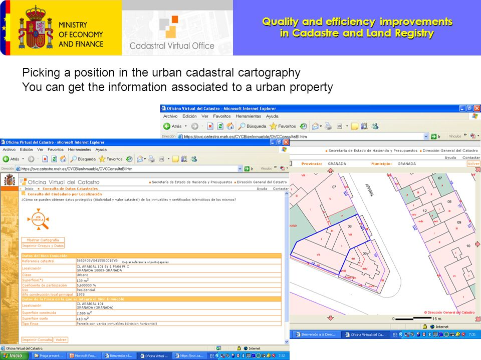 Picking a position in the urban cadastral cartography