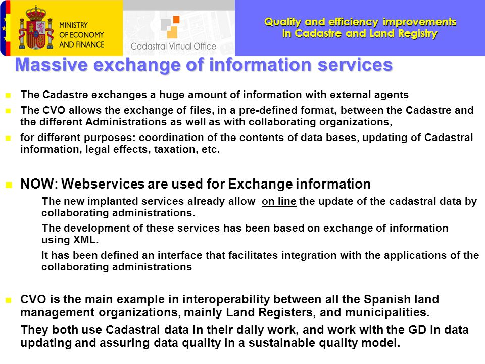Massive exchange of information services
