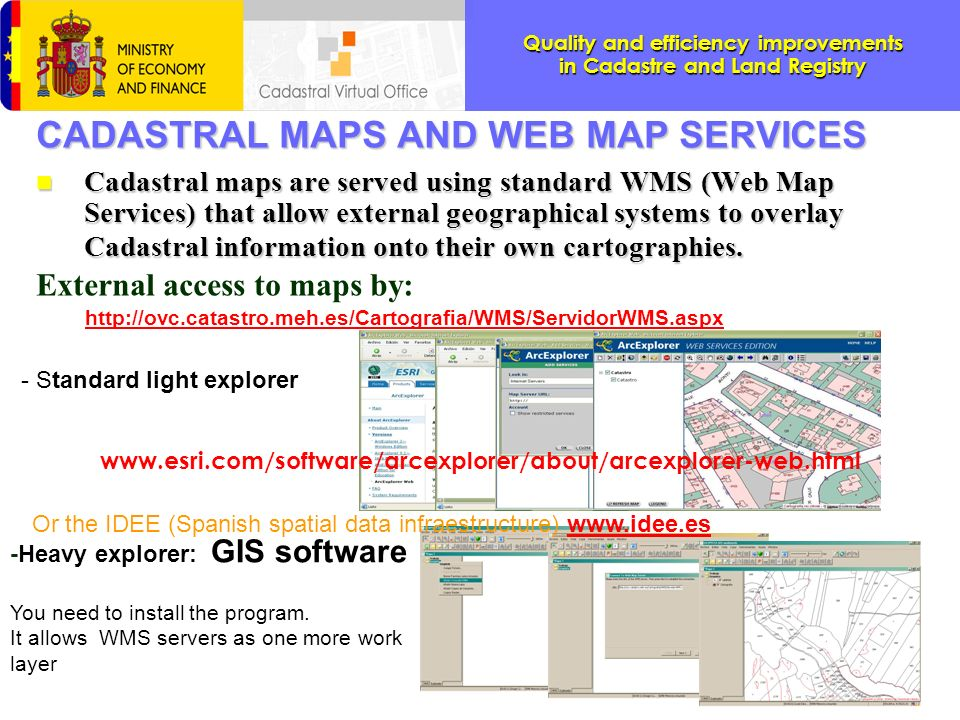 CADASTRAL MAPS AND WEB MAP SERVICES