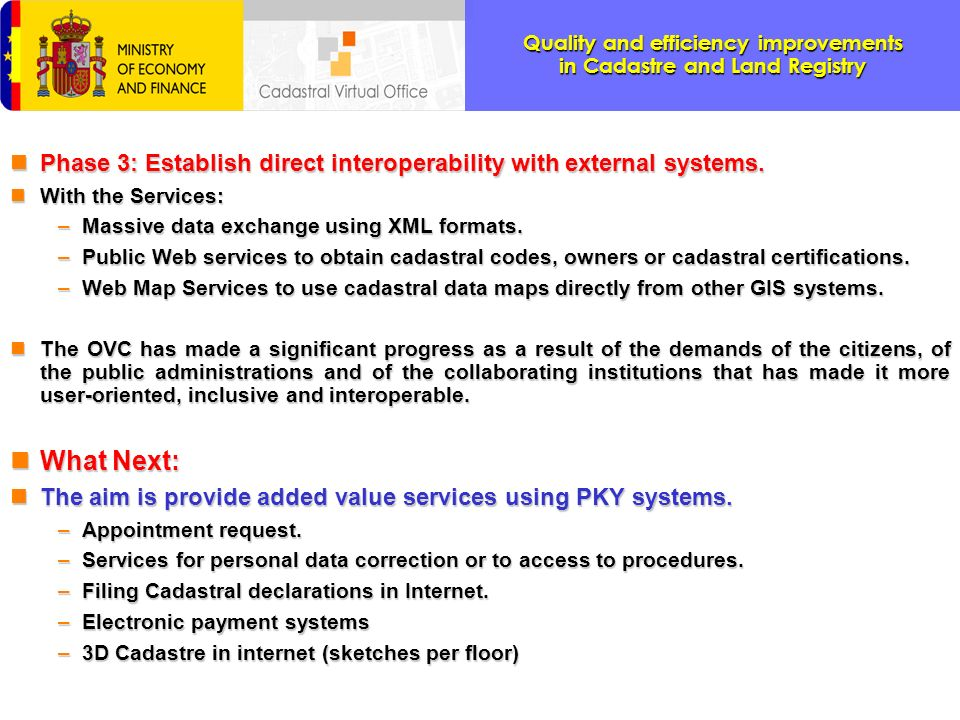 Phase 3: Establish direct interoperability with external systems.