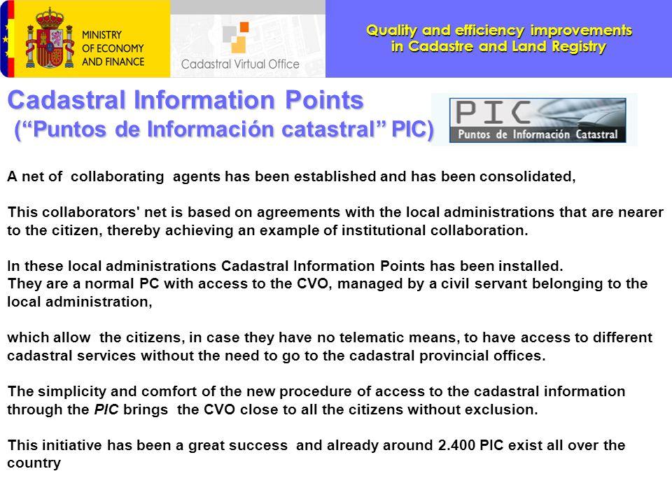 Cadastral Information Points ( Puntos de Información catastral PIC)