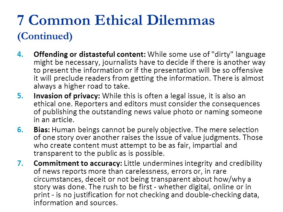 common ethical issues essays Strive to establish your company's core values and conduct operations with an ethical framework in mind by reviewing this list of typical ethical issues in.