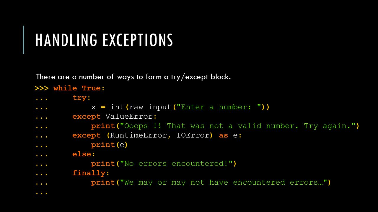 encountered an error while parsing