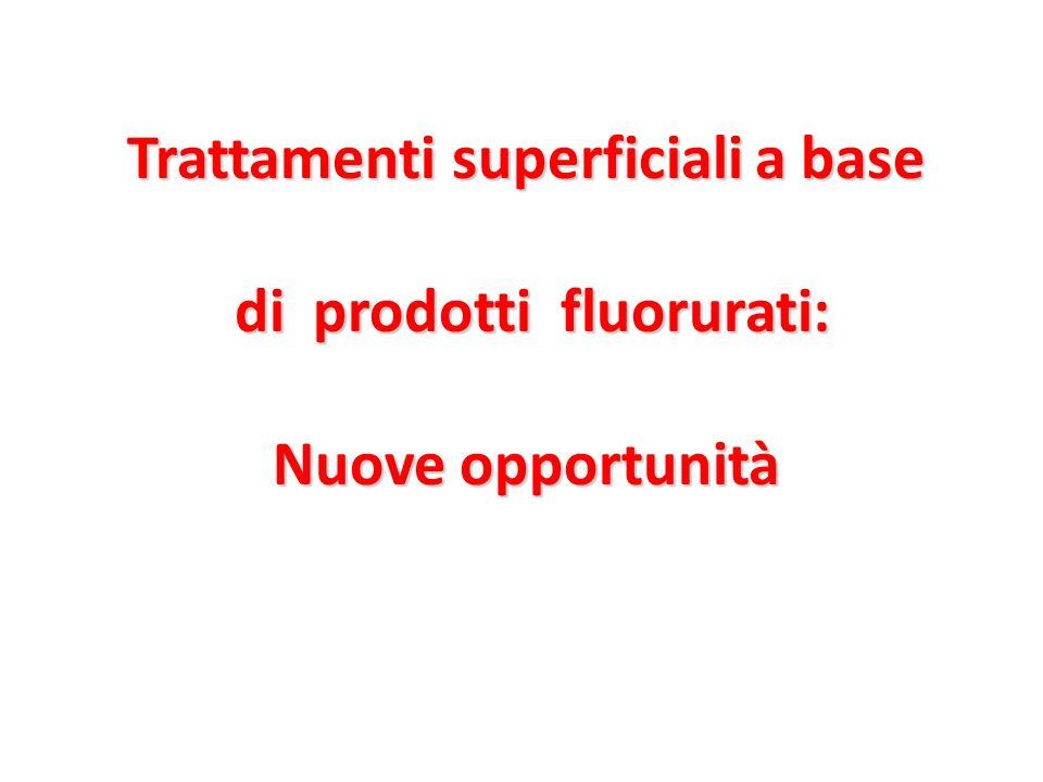 Trattamenti superficiali a base di prodotti fluorurati: