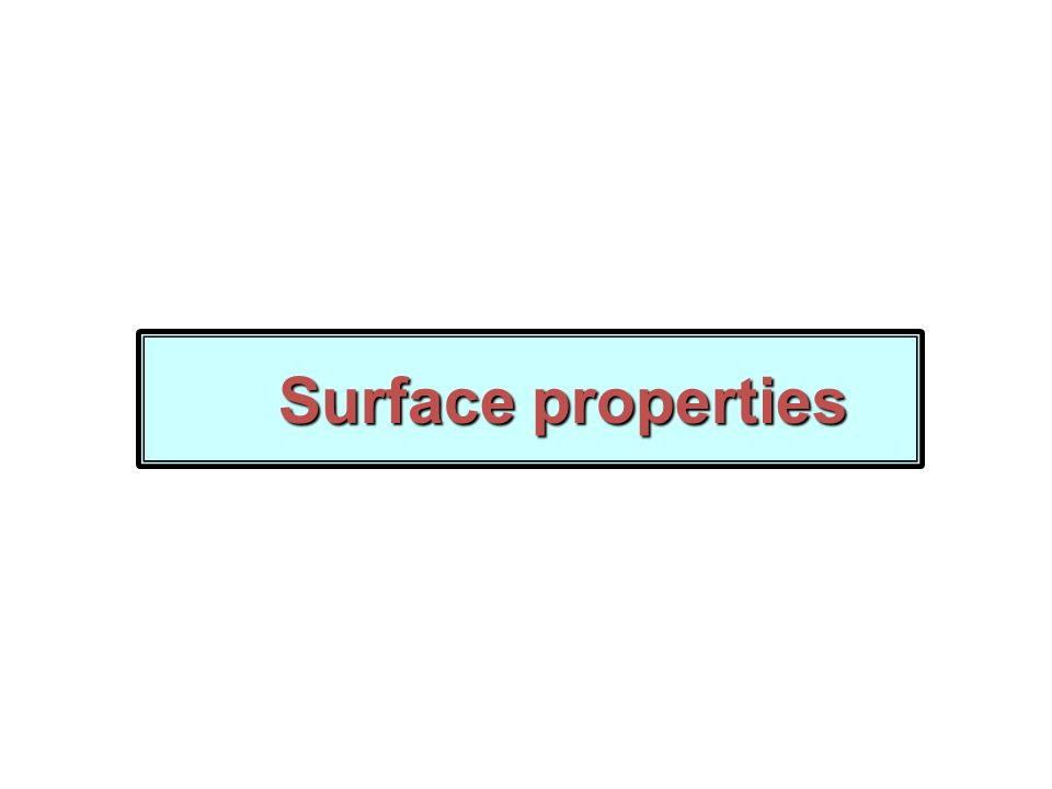 Surface properties