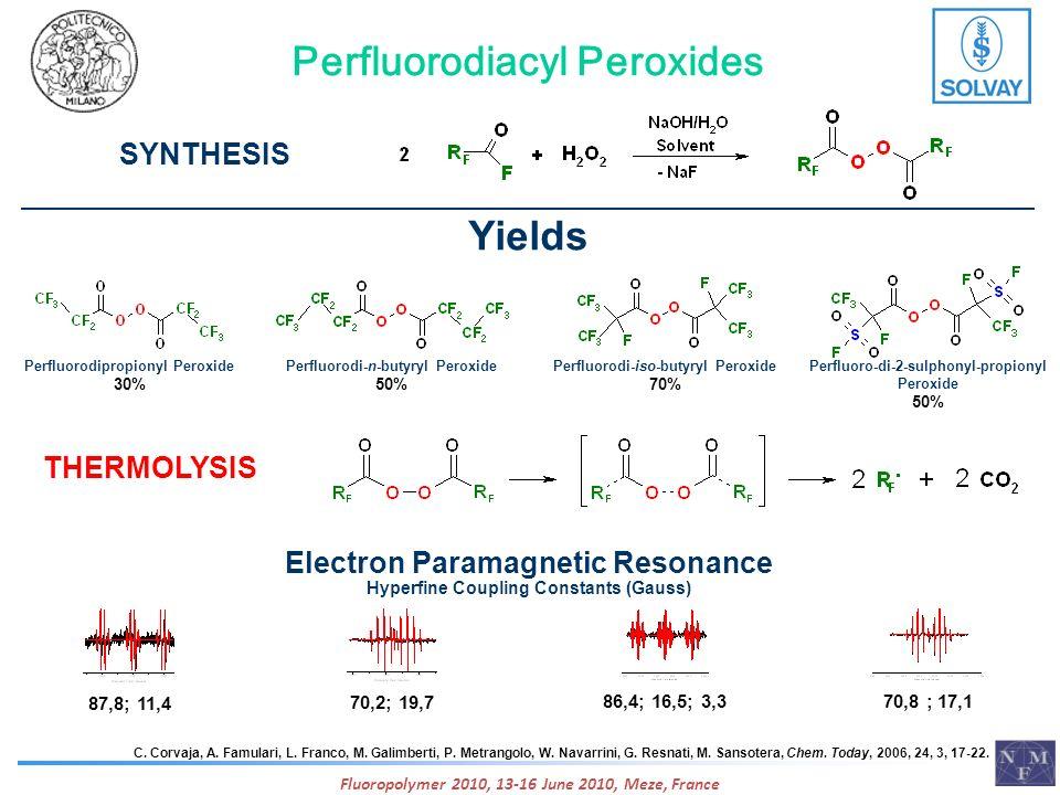 Perfluorodiacyl Peroxides