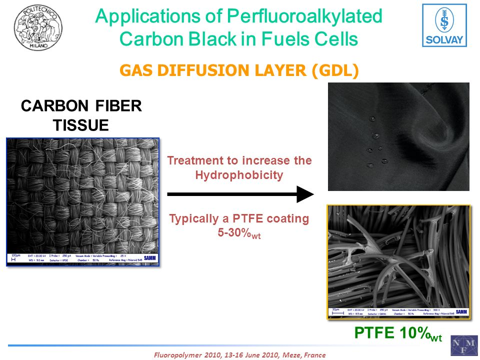 Applications of Perfluoroalkylated Carbon Black in Fuels Cells