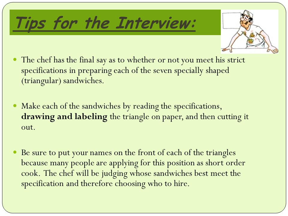interview tips for map maker role Typical concept maps, making it difficult to isolate common features across a data  set (fox,  the opening questions from a set of 19 previously completed  interview  modifications, also be used to show the relative importance of each  of these.