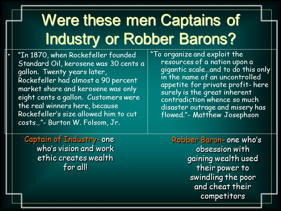 big business models and mentality ppt video online  were these men captains of industry or robber barons