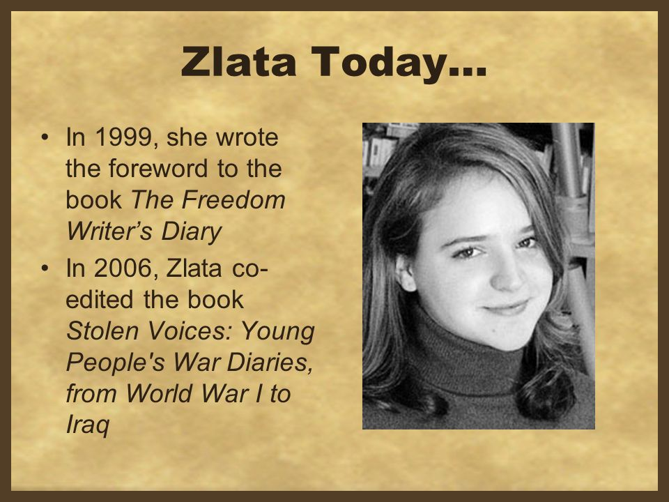 a review of book zlata diary In the beginning of the book zlata is a eleven-year-old girl living in sarajevo  advanced english book review – zlata's diary: imagine yourself as a child.