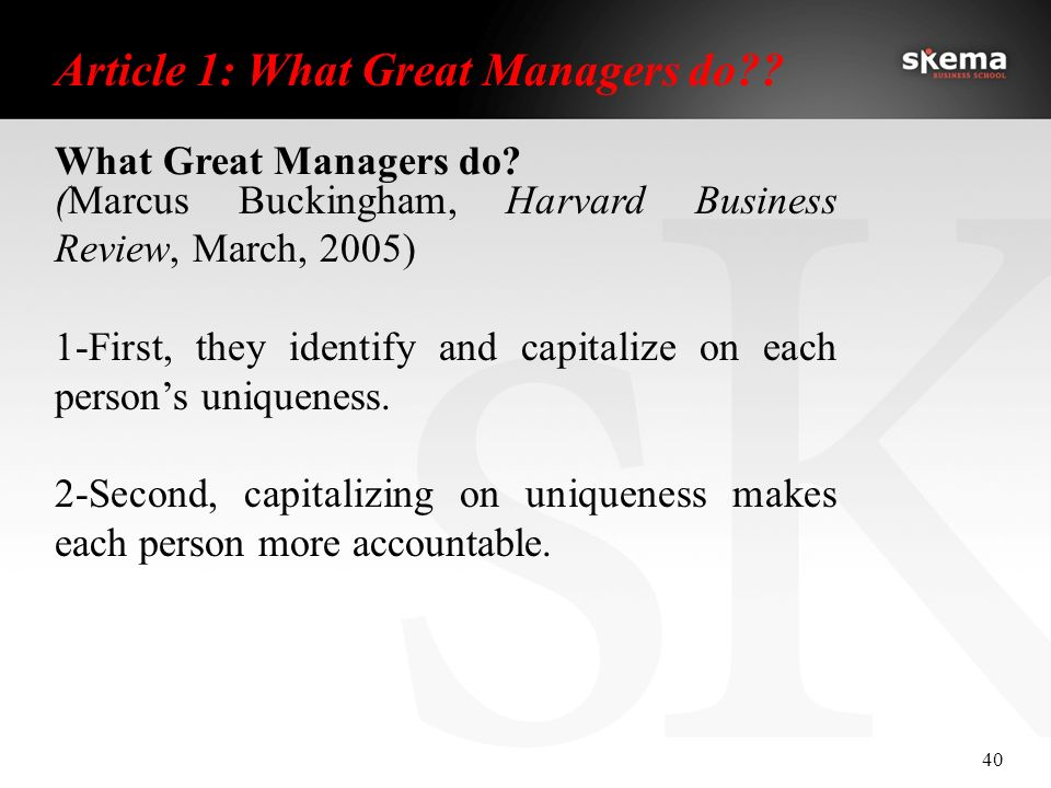 what great managers do marcus buckingham Buckingham what great managers do by by marcus buckingham - free download as pdf file (pdf), text file (txt) or read online for free.