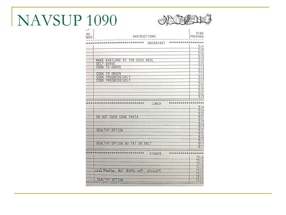 Navsup 1090 Food Preparation Worksheet Ppt Video Online Download