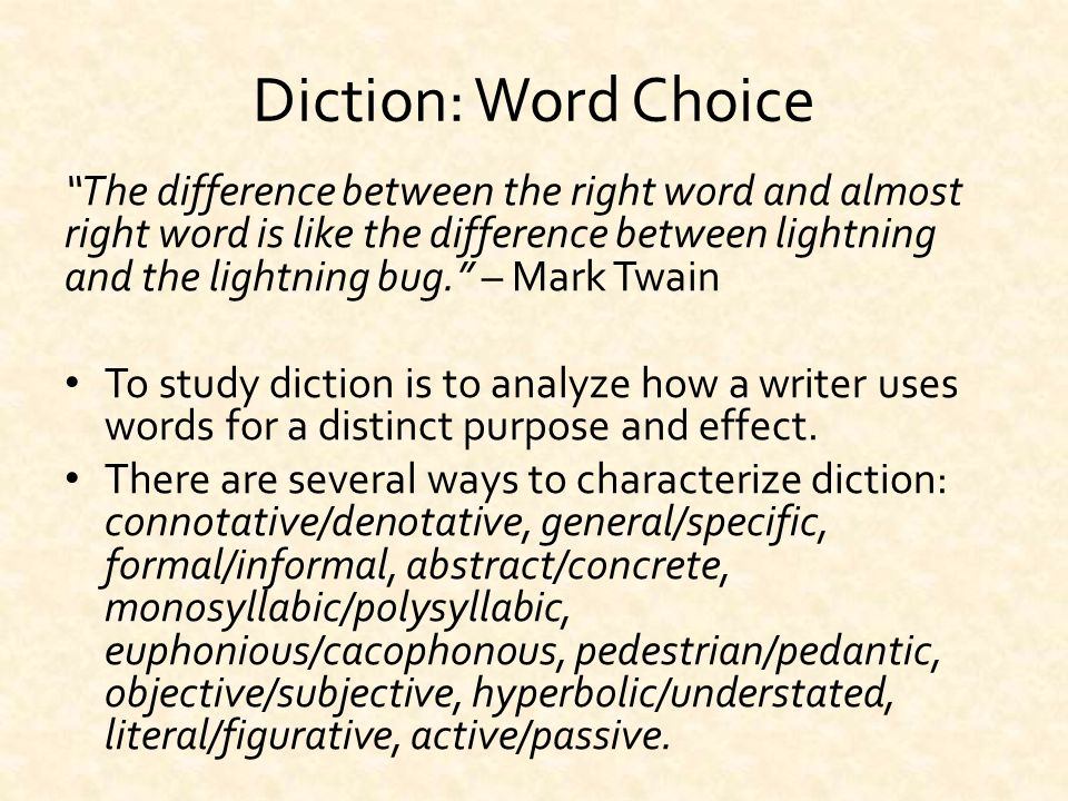 diction and tone Diction definitions for lang and comp learn with flashcards, games, and more — for free.