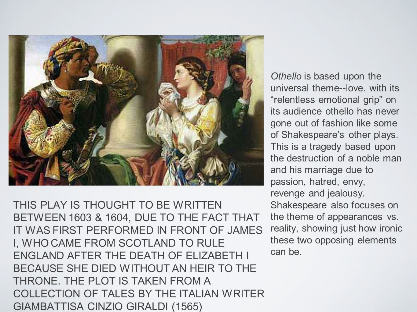 challenges of marriage relationship in othello by william shakespeare With a black othello and a white desdemona being at the center of an   shakespeare may have been in an interracial relationship of his own.