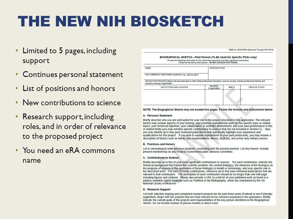 Online Writing Lab   personal statement nih biosketch