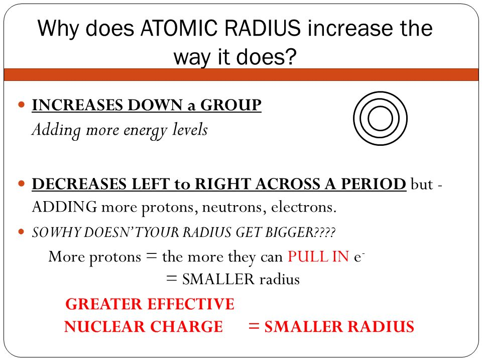 Why Does Atomic Radius Increase Down A Group 77