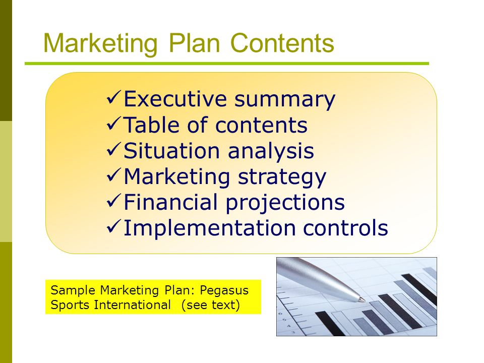 marketing plan situation analysis The situation analysis of a marketing plan can be likened to assembling the raw materials required to build an effective plan -- one that will give the company its best chance of meeting competitive challenges and increasing sales.