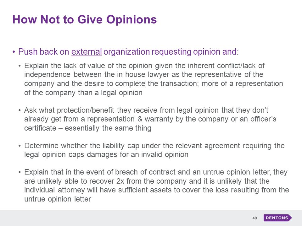 Best practices for drafting legal opinions ppt download how not to give opinions altavistaventures Choice Image