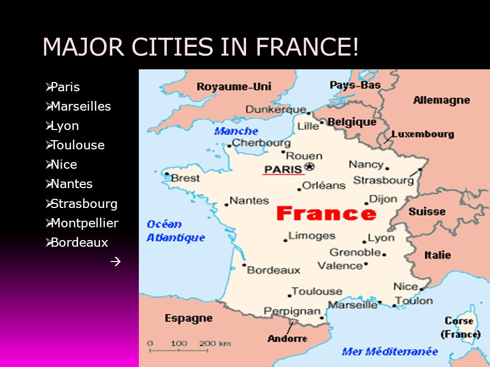Project On France France The France Soccer Team Ppt Video - Major cities in france