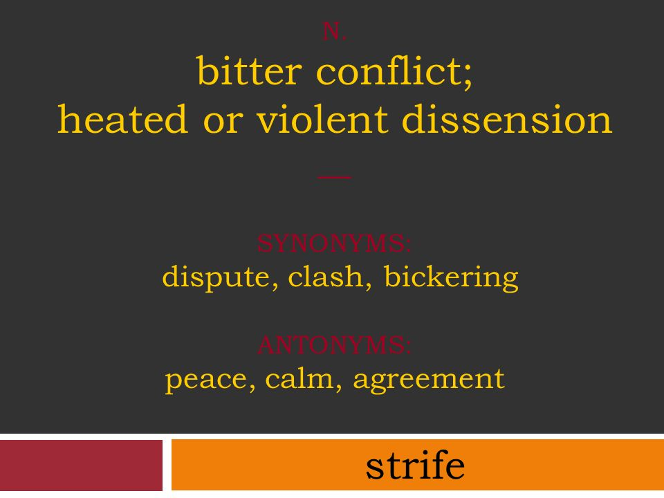 Julius caesar act iii ppt video online download n bitter conflict heated or violent dissension synonyms dispute clash platinumwayz