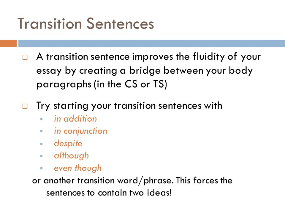 introductory transition words for essays Transitions and transitional phrases transitions are words and phrases that help readers move from one • choose the transition that best matches the.