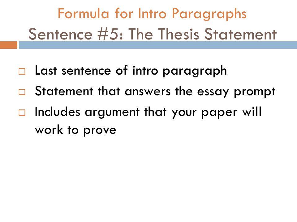 last sentence of essay