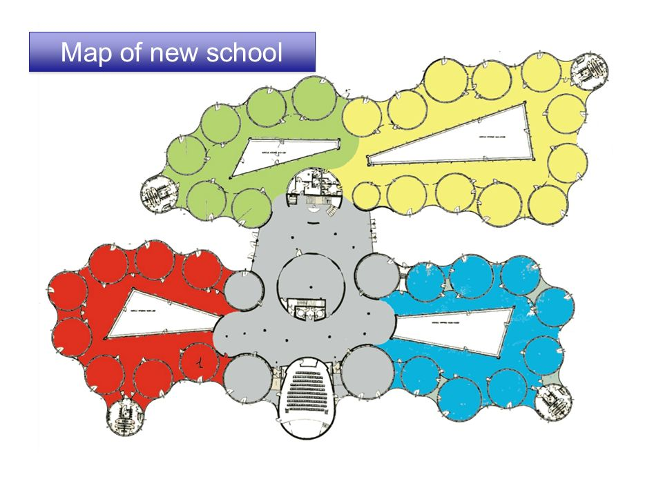 Map of new school