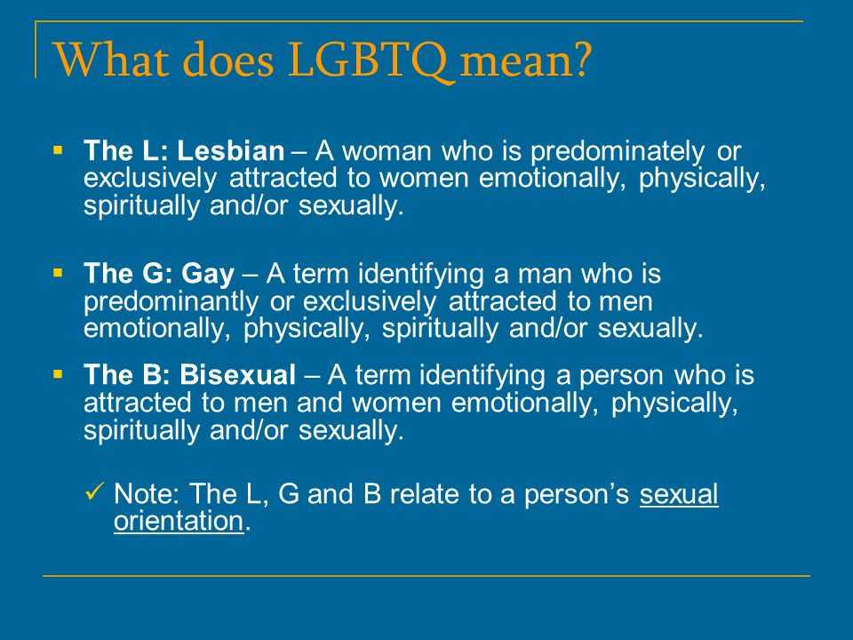 What Does Sexual Orientation Mean