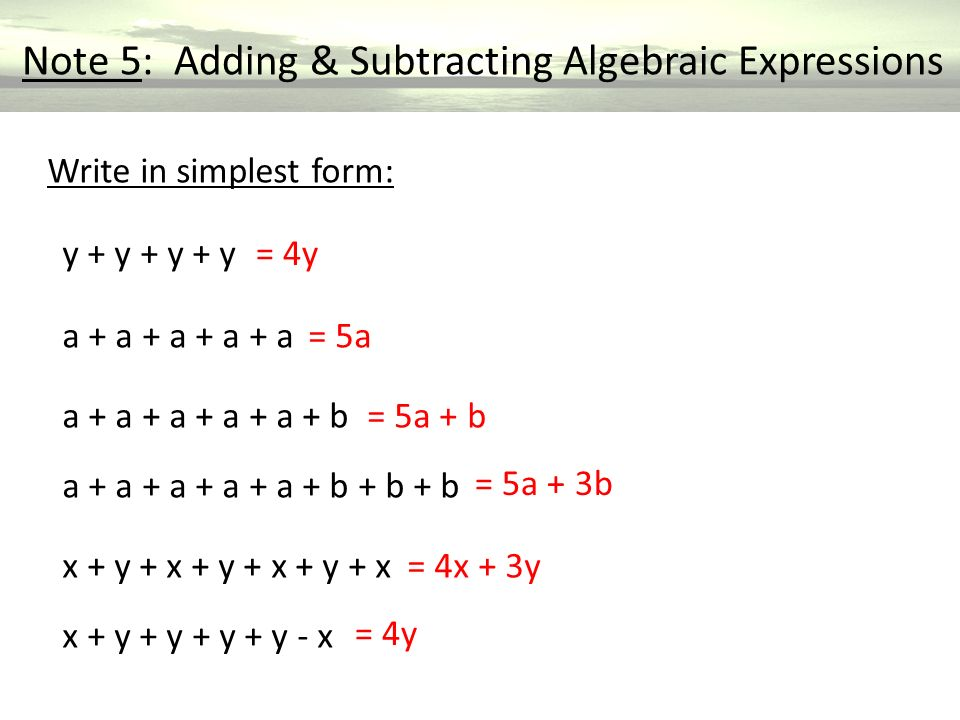 Algebra Expressions Year ppt video online download – Adding and Subtracting Algebraic Expressions Worksheet