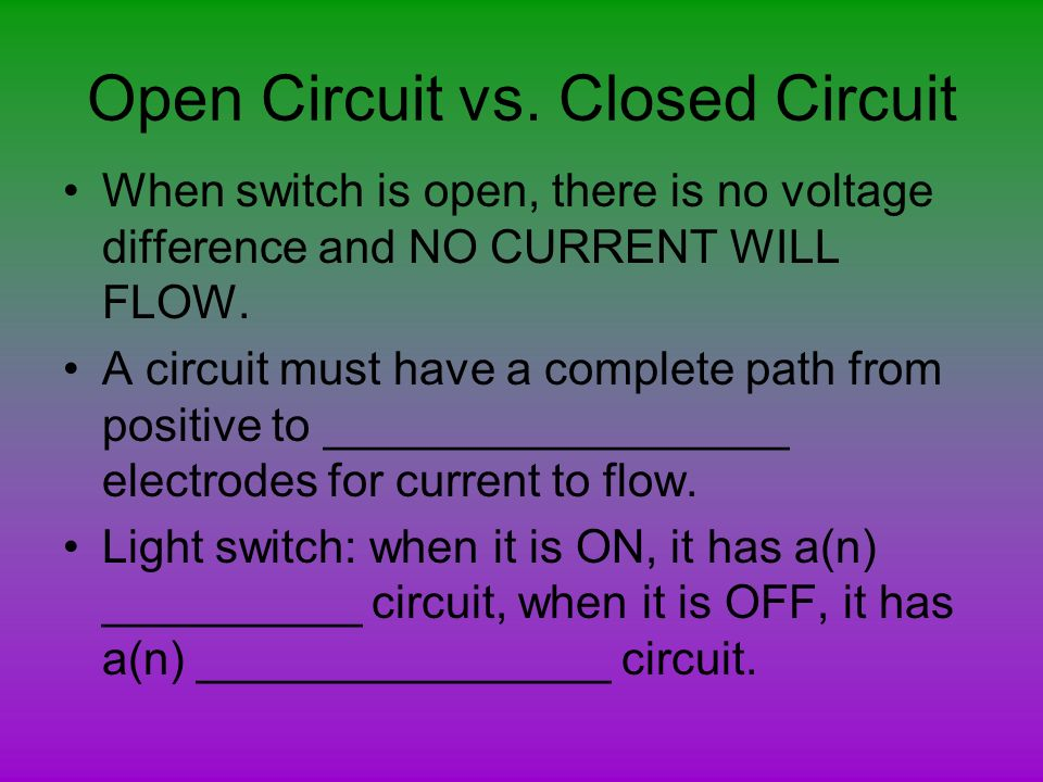 Open Closed Circuit Testers : Electrical circuits parts of a simple circuit wire load