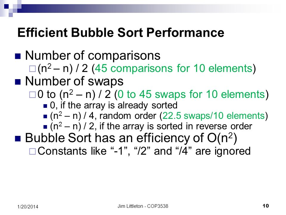 performance analysis of bubble sort using Performance analysis [7] each method of sorting algorithm has different cases of performance they are worst case, when the integers are not in order and they have to be swapped at least bubble sort in the bubble sort, as elements are sorted they.