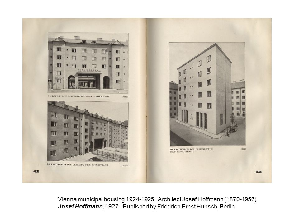 Vienna municipal housing 1924-1925