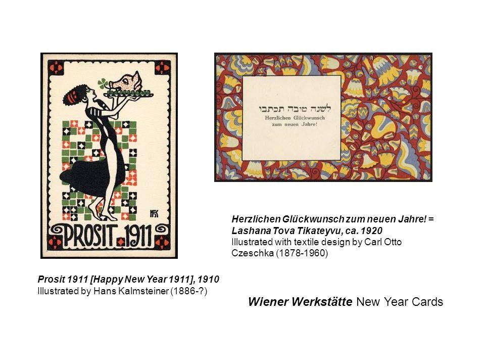 Wiener Werkstätte New Year Cards