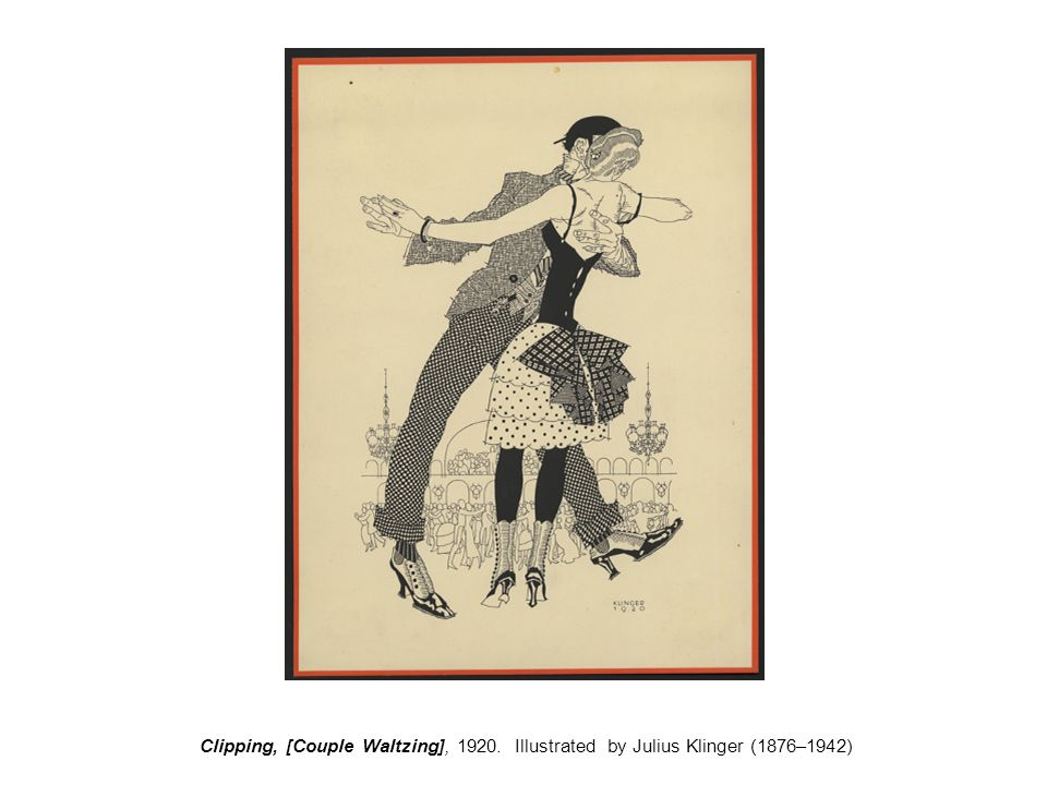 Clipping, [Couple Waltzing], 1920