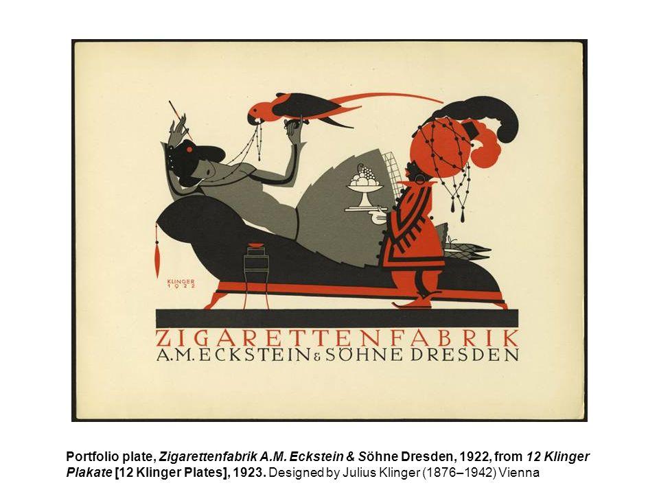 Portfolio plate, Zigarettenfabrik A. M