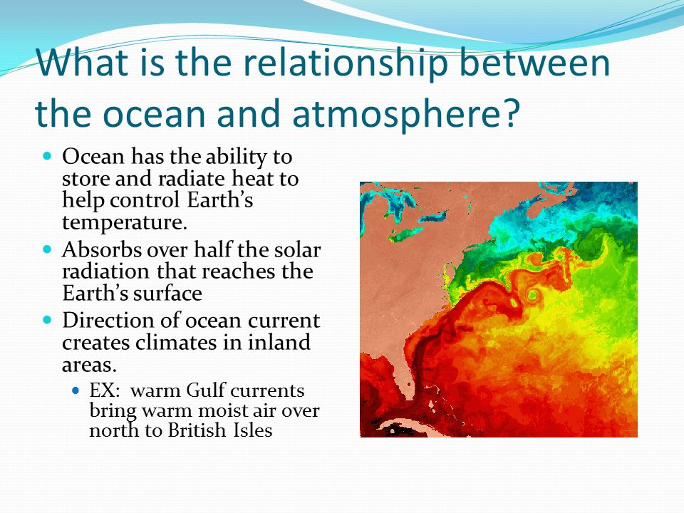 ocean and atmosphere relationship goals