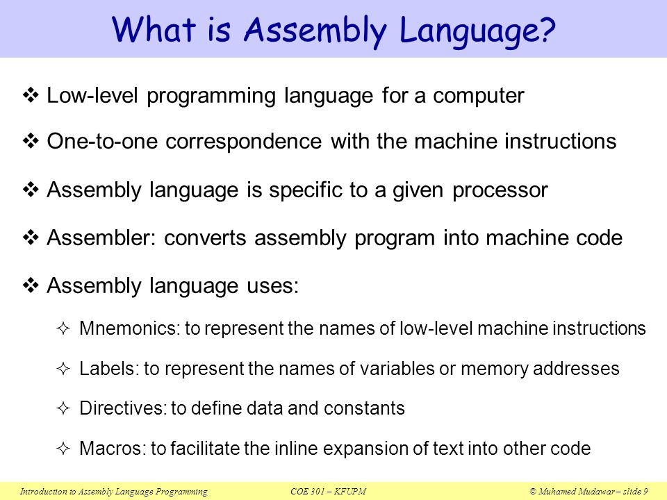 introduction to assembly language Beginners introduction to the assembly language of atmel avr microprocessor (gerhard schmidt) sponsored links download books on: free assembly language ebooks online.