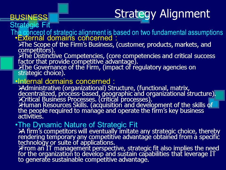 concept of dynamic strategic fit commerce essay Aligning hr planning / workforce planning to departmental strategic / business planning establishing hr priorities to help achieve business goals and measuring,.